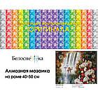 """Алмазна вишивка """"Райський сад"""" Білосніжка 40х50 см, фото 5"""