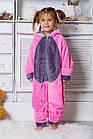 Теплая пижама Кигуруми с ушками зайчика для девочки 6-14 лет, фото 2