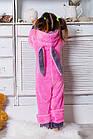Теплая пижама Кигуруми с ушками зайчика для девочки 6-14 лет, фото 3