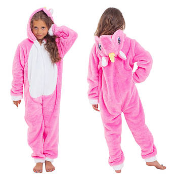 Тепла піжама Кигуруми Єдиноріг для дівчинки 6-14 років