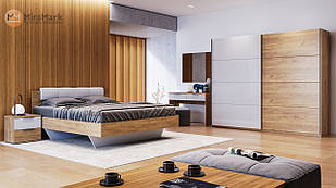 Спальня Асти 2 м Дуб Крафт-Глянець Білий ТМ МироМарк