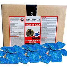 Яд от крыс и мышей, родентицидное средство от грызунов Бродифакум (20 кг) Brody 2.5, Garden Lab