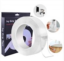 Универсальная многоразовая крепежная лента Ivy Grip Tape 3м, ширина 30 мм, двусторонняя лента Ivy Grip