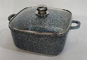Казан з кришкою UNIQUE UN-5204 гранітне покриття, 2,4 л, 20см, квадратний, посуд, казан