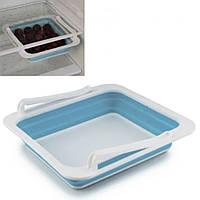 Складаний контейнер для зберігання продуктів JM-626 STORAGE BOX пластик, різні кольори, 23х23х4,5см,