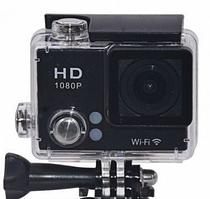 Спортивна водонепроникна камера Action Camera DVR S2 Wi Fi, 4K, чорна, 16Mp, циĸличнaя запис,