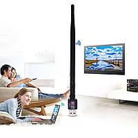 Мережевий Usb wifi адаптер Azara чорний, 600Mb, мережевий wifi адаптер, wifi адаптер, адаптер з антеною