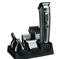 Акумуляторна машинка-триммер для волосся 5в1 Gemei GM-801 4 насадки, 220-240V, машинка для стрижки, машинка