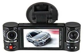Автомобильный видеорегистратор CARVUN F600 на 2 камеры, 13.0x4.6x3.1см, AVI, 1280х480, видеорегистратор,