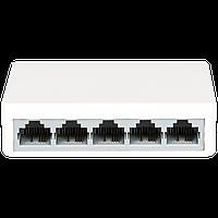 Комутатор мережевий для з'єднання вузлів комп'ютерної мережі Switch Green Vision GV-001-H-05P на 5 портів