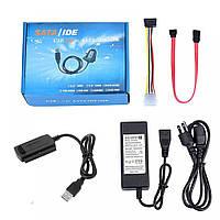 Адаптер SATA/IDE для високошвидкісної передачі даних USB, 480 Мбіт, AC 90в - 264в, перехідник USB, адаптер,