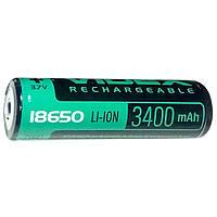 Аккумулятор Videx Li-ion 18650-R, 3400 mAh, защита mbl, 1 шт, 3.7В, аккумуляторы 3400mAh, аккумуляторы Videx