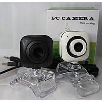 Настольнная веб-камера Wite/Black-02 WebCam з мікрофоном, USB 2.0, 640x480, 30 кадрів/с, різні кольори,