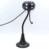 Провідна веб-камера Zebra 4800PC з мікрофоном, на ніжці, USB 2.0, настільна, чорний, веб-камера, камера