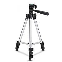 Штатив трипод, для фото-і відеозйомки TF-3110 висота від 0,35 м до 1,02 м, алюмений/пластик, 1,5 кг, 4секции,
