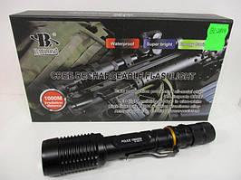 Потужний ліхтарик тактичний Police BL-2804 п'ять режимів, Zoom, від акумулятора, анодований алюміній, ліхтар