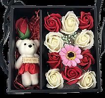 Подарункові набори мила з троянд для вашого коханого або дружини Tedy XY19-79 з мишком