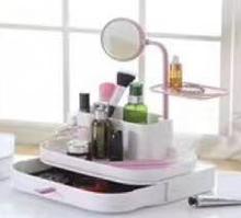 Косметичне дзеркало з коробом Cosmetic rack with mirror White №K12-31 біле, дзеркало