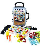 Ігровий набір у валізу для розробки моторики Pazzle interest assemble 137 деталей, від 3лет, пластик, набір
