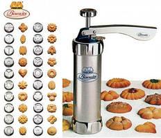 Кондитерский шприц - пресс для печенья Biscuits №F43, с 20 насадками, объём 450 мл, шприц для печенья, фигурки