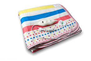 Электропростынь з сумкою electric blanket, розмір 150*120 см, color, дворежимний, простирадло електрична,