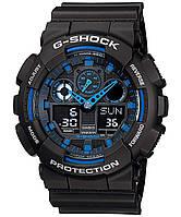 Чоловічий наручний годинник Casio G-Shock 3 чорно-сині, таймер/секундомір, кварцові, годинники G-SHOCK