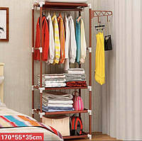 Напольная вешалка для одежды в коридор Hat Stand коричневый, размер 1,7х5,5х3,5м, вешалка напольная Hat Stand,