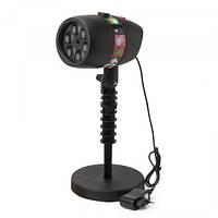 Лазерный проектор Star Shower Slide Show 12 слайдов, свечение: красный,зеленый, белый, охват до 100квм,