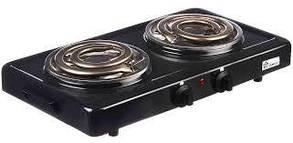 Електрична плита на 2 спіралі BITEK BT-9087B 2000Вт, 155мм, 220V, 5 режимів, емаль, плити настільні,