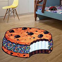 Коврик 3D безворсовый для дома Кекс размер 80х80см, вес 0,6кг, разноцветный, коврик, коврики для дома, ковер,