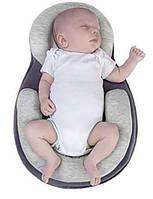 Дитяча подушка Baby Sleep Positioner від 4 до 6міс, бавовна, розмір 55 см х 38 см, подушки