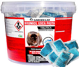 Яд от крыс и мышей, родентицидное средство от грызунов Бромадиолон (1 кг) Bromiol Esca Pasta, Garden Lab