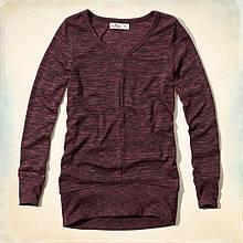 Пуловер Hollister бордовый