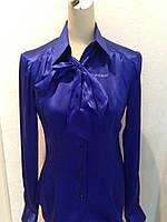 Блуза шелковая женская Societa синяя, фото 1