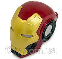 Портативная Bluetooth колонка Ironman Mark46, красно-золотая