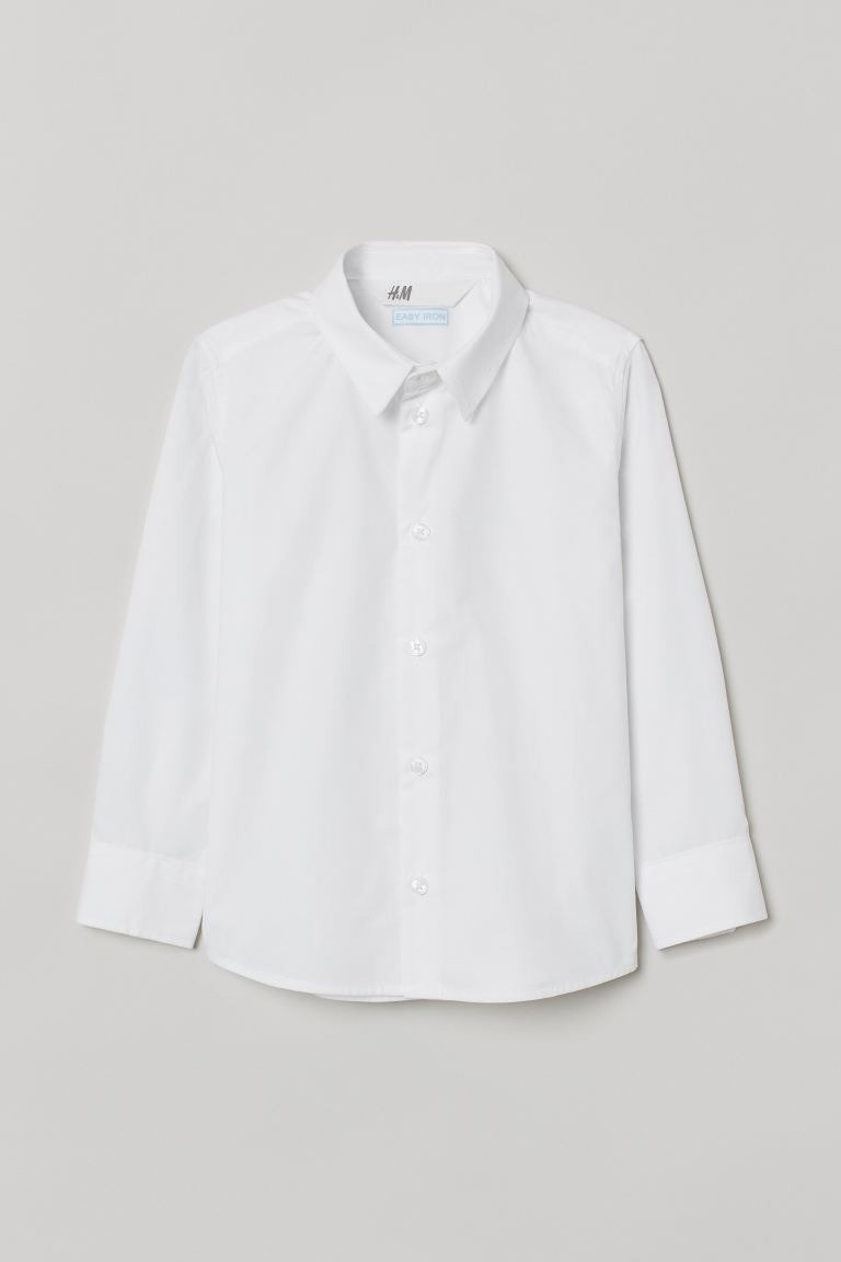 Стильна біла сорочка НМ для хлопчика