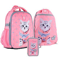 Шкільний набір ранець + пенал + сумка Kite Studio Pets (SP21-555S-2) 760 г 35x26x13,5 см 12 л рожевий, фото 1