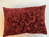 Подушка красная с вензелем Jab
