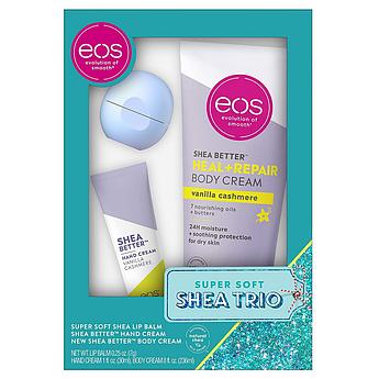 Подарунковий набір уходових косметики з маслом ши EOS Holiday Super Soft Shea Trio Gift Set