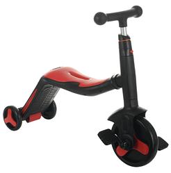 Беговел 3 в 1 FL868 з музикою червоний (від 1 року) дитячий триколісний велосипед, самокат з підсвічуванням