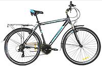 """Велосипед Crosser Gamma 28"""" рама 18.1"""" чорно-синій   Спортивний дорожній, міський велосипед Кроссер Гамма, фото 1"""
