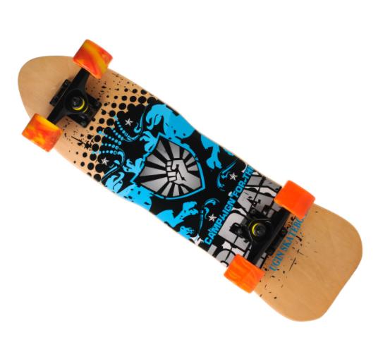 Скейт деревянный 823 наждак с PU колесами 60 мм Щит | скейтборд трюковой из канадского клена до 80 кг