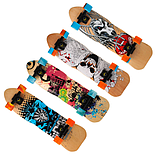 Скейт деревянный 823 наждак с PU колесами 60 мм Щит | скейтборд трюковой из канадского клена до 80 кг, фото 6