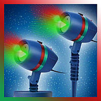 Новогодний лазерный проектор звездный дождь точки Woterproof Garden light уличный