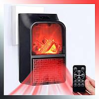 Экономичный мини электрообогреватель Flame Heater имитация камина с пультом 500 Вт
