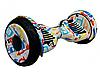 Гироборд Smart Balance 10,5 дюймов Хип хоп белый самобаланс   гироскутер детский Смарт Баланс 10,5 до 120 кг, фото 9