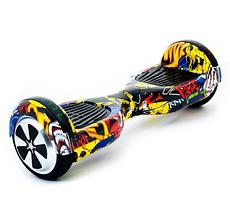 Гироборд Smart Balance 6,5 дюймів Графіті самобаланс   гироскутер дитячий Смарт Баланс 6,5 LED фари