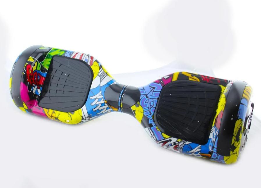 Гироборд Smart Balance 6,5 дюймов Граффити самобаланс | гироскутер детский Смарт Баланс 6,5 LED фары