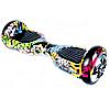 Гироборд Smart Balance 6,5 дюймов Граффити самобаланс | гироскутер детский Смарт Баланс 6,5 LED фары, фото 5