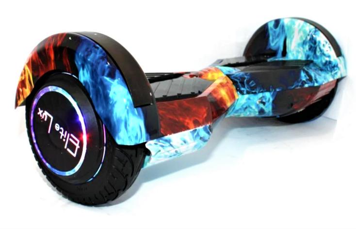 Гироборд Smart Balance 8 дюймів Вогонь і вода самобаланс | гироскутер дитячий Смарт Баланс 8 LED фари